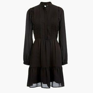 J Crew Ruffle Hem Pintuck Dress